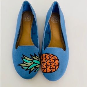 🆕 NWOT SO Women's Pineapple Anchovy Flats Size 8